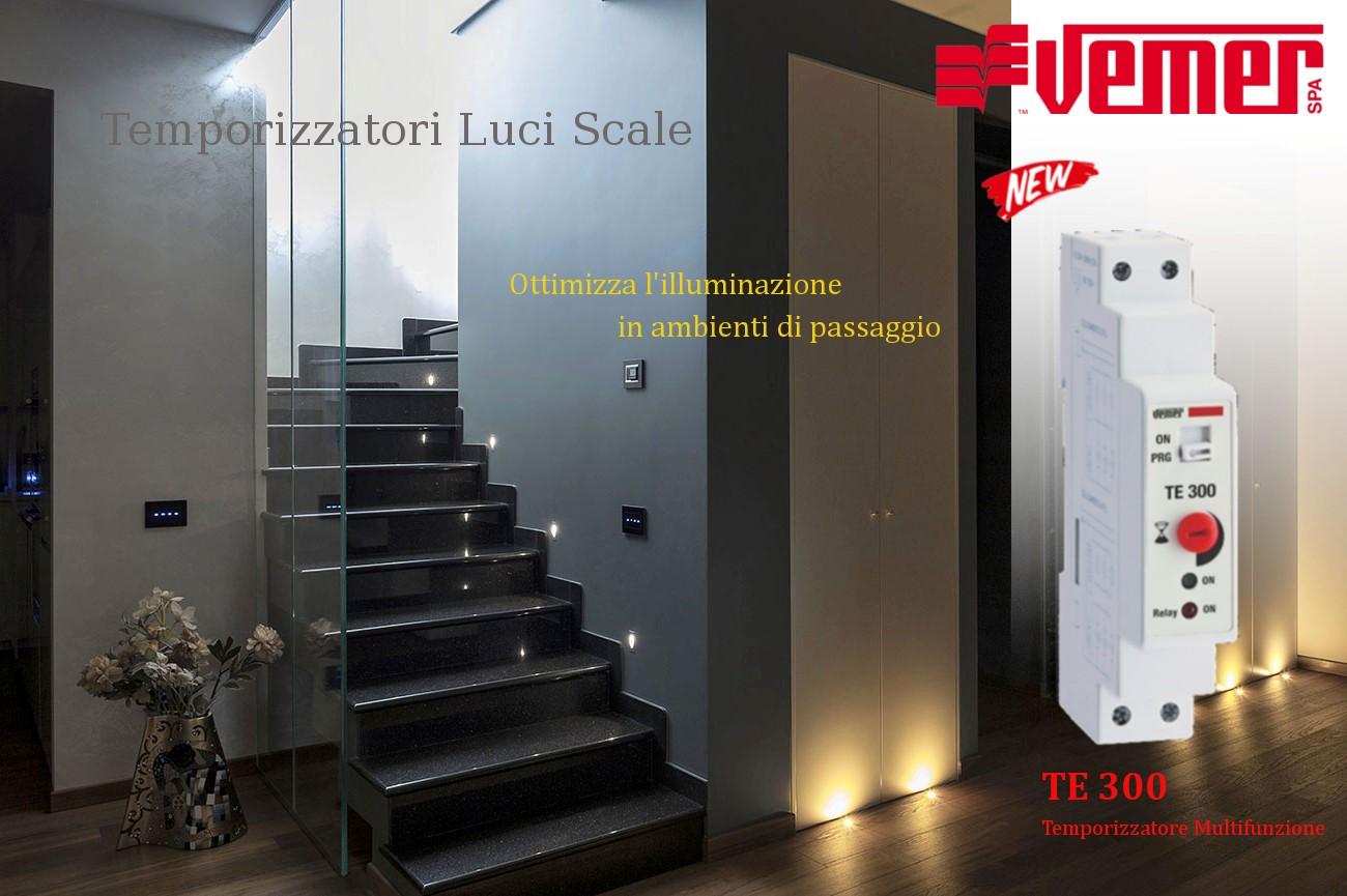 Temporizzatori luci scale vemer rf elettrica - Luci per scale ...